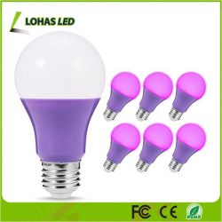 Décoration de Noël E26 5W A19 Ampoule LED de couleur violet