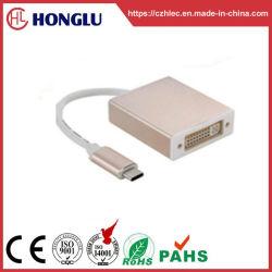USB macho do tipo C/DVI Adaptador Fêmea