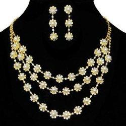 Cadeia de metal de moda Vintage colar de ouro das mulheres de camadas múltiplas