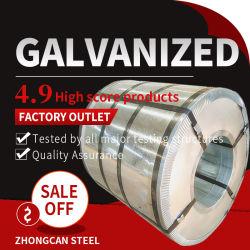 ASTM médios quente DX51d SPCC em chapa de aço laminado a frio com revestimento de zinco Gi Roffing bobina de aço galvanizado de fita