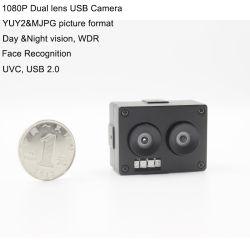 La Chine Wholesale 2.0MP HD 30fps UVC Andriod Linux La vision de nuit WDR Mini caméra USB double lentille pour la reconnaissance de visage ATM de la banque