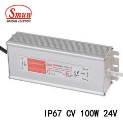 100W 24V 4A IP67 Водонепроницаемый светодиодный драйвер постоянного напряжения для установки вне помещений