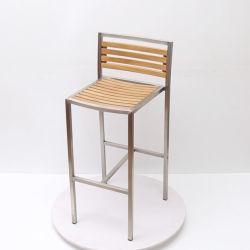 حديقة خارجية حديثة فناء خشب الساج خشب الساج صلب مقاوم للصدأ كرسي طاولة دوارة قابل للطي