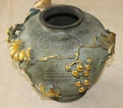 Gravado de bronze vaso Decoração