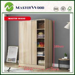 2 Door/3door 거실 /Bedroom 가구 또는 내각 피복 또는 홈 또는 옷장 저장 나무 미끄러지는 현대 고대 작풍 홈 또는 호텔 옷장