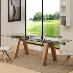 Le verre trempé Table et chaise de salle à manger d'extension