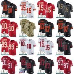 2020의 슈퍼볼 Liv 장 49ers Mahomes Garoppolo 축구 Jerseys