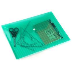 De Zak van het pvc- Document, de In het groot Duurzame Opnieuw te gebruiken Milieuvriendelijke Plastic A4 Bureau van het van de Bedrijfs omslag van het Bureau van de Rekening van het Document Zak van het Dossier van de Conferentie van de Boodschapper van het Potlood met Knoop