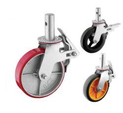 PU железный сердечник колеса для тяжелого режима работы сооружением самоустанавливающегося колеса