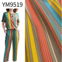 Ym9519 de torsión de alta transferencia de Chiffon Imprimir Tejido de poliéster para la seda como el vestido