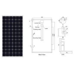 1 квт, 3 квт, 5 квт, 8 квт, 10 квт по-Grid/off-Grid Monocrystalline кремния солнечная панель солнечных батарей