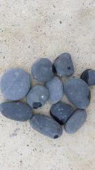 سوداء لون حصاة غسل نهر حجارة