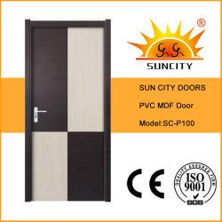 예쁜 디자인 PVC MDF 화장실 문 (SC-P100)