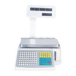 Supermercado electrónico Código de barras de fijación de precios térmica Báscula con impresora de etiquetas