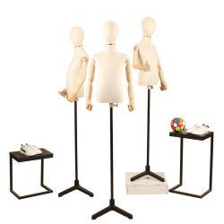 表示ファブリックカバー子供の衣服の販売のための半分ボディ子供の服形式のマネキン