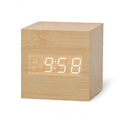 Fabricante de alarme digital com relógio electrónico de madeira levou a exibição da hora