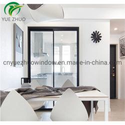 Style simple d'aluminium porte coulissante avec ceintures de grande taille