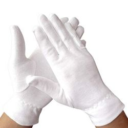 통기성이 뛰어난 화이트 인터락 풀 워크 땀이 흡수되는 얇고 저렴한 손목 밴드 어셈블리 보호 비닐 의료 면지 핸드 장갑