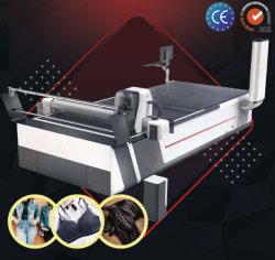 Full automatic Non-Stop Multi-Layer Garment tecidos de malhas de poliéster Denim disco revestido irrespirável escorregadio tecido Meltable Encaminhamento CNC & Máquina de Corte