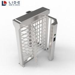 التحكم في الوصول RFID البوابة الآلية من الفولاذ المقاوم للصدأ البوابة الكاملة الميكانيكية بوابة دوارة