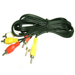 Amarelo ouro branco vermelho Nickle 3AV banhados Sexi RCA para 3RCA Cabo de Áudio e Vídeo 3 cabo RCA para gravador de DVD descodificador HDTV 1,5m (YH1222-1)