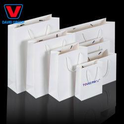 Custom печать роскошные одежды Одежда швейной машины упаковки зерноочистки биоразлагаемых ручки сумки подарков бумаги магазинов