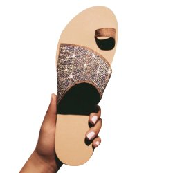 En Stock 2020 Nueva Estrás sandalias verano Zapato abierto de la mujer zapatillas Mujer Plus Size sandalias y zapatillas