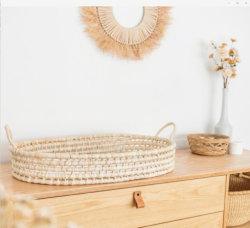 Suministros inicio Kiin portátil artesanías bebé bebé Moisés de cáscara de maíz el maíz el cambio de la cesta