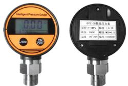 산소 공장 가격 OEM 0 - 100MPa 공기 오일 물 배터리 디지털 압력 게이지 Qdb108