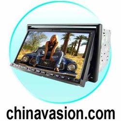 2-DIN 7 pouces à écran tactile voiture + lecteur de DVD de navigation GPS