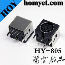 Connecteur DIN Min de haute qualité avec huit aiguilles pour l'équipement de câblage