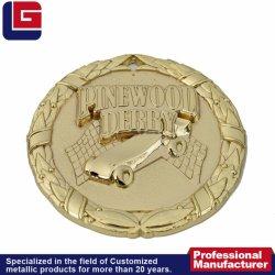Altamente Polidos Comemorativa Personalizado Design redondo vencedor Medalha de Ouro