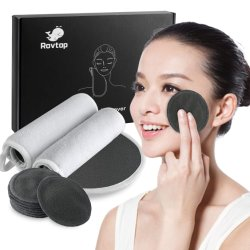Soft Carvão de bambu Removedor de maquiagem Anti-Bacterial pastilhas de bambu fibra de carbono Facial de limpeza da unidade de panos com embalagem