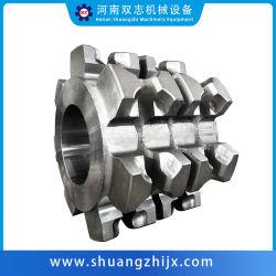 عجلات/تروس سلسلة صناعية من الفولاذ عالي الجودة للحديد/الأللوي للصلب للكشط ناقلات السلسلة