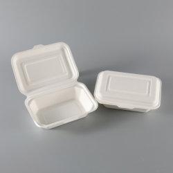 محارة [كمبوستبل] طبيعيّ ثفل [سوغركن] ليفة [تك-ووت/تو-غو] يعلّب طعام وعاء صندوق قابل للتفسّخ حيويّا مع يدار غطاء موجة دقيقة آمنة [ببر بوإكس] [بنتو] صندوق