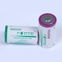 Bateria primária de lítio de 3,6V Er26500 pilhas cilíndricas descartáveis de 8500 mAh C Tamanho para medidores inteligentes automáticos