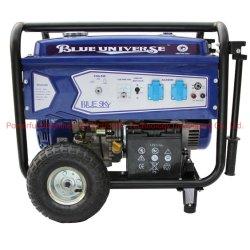 강력한 5.5kw Home Use Petrol Generator (PG6500/E) Handle와 Wheels에
