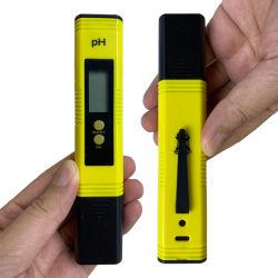 pHデジタルの試験計器のペン水測定