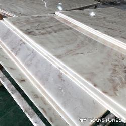 4*8 футов полированного полупрозрачного искусственный камень оникс интерьер оформлен специалисты Alabaster лист