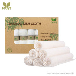Topeco Customized Package Bamboo Fiber Dish Cleaning Cloth Materials Textile Gratis monster