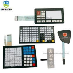 Custom Silkscreen Printed Electronic 3m Tape Adhesive Waterproof IP67 Performance Schakelpaneel voor bedieningspaneel met membraan en groot venster