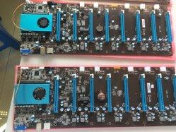 Btc鉱山EthのためのSkylake 3855u 8GPU操作のマザーボード8 PCI-Eスロットサポート8グラフィックス・カード6 Pin