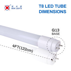 Cina Produttore T8 LED tubo luce 18 W vetro LED fluorescente Tubo luminoso a LED T8