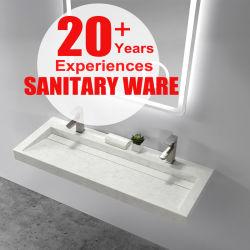 固体表面の人工的な石造りの浴室の虚栄心の石の流しの洗面器