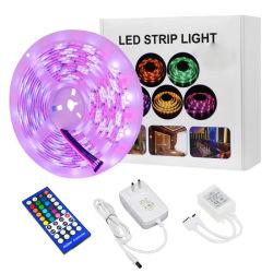 RGB LED regulable luces tira SMD 5050 Sincronización Bluetooth Smart LED tiras de luz de la cuerda Kits con mando a distancia RF clave 44 12V 5un adaptador