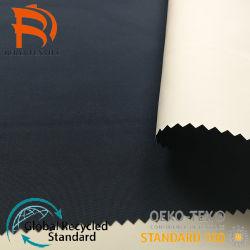 الصين مصنع بالجملة ميلكى أبيض PU طلاء مقاومة للماء صورة معطف مطر مواد المظلة قماش التفتا المصنوع من النايلون 210t