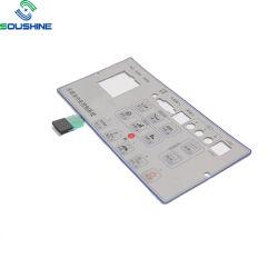Painel de sobreposição de PMMA plana tácteis Botão de pressão momentânea do interruptor de membrana