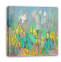Paesaggio Waterlily - 002 di Impressionism su pittura a olio