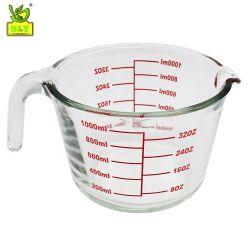 La máxima calidad tazas de medir la cocción de Vidrio Cristal de la herramienta de medición de la taza con asa