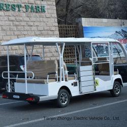 Zhongyiの高品質2セリウムが付いている4つの6つの8人の電池式の標準的なシャトルの閉鎖電気観光車